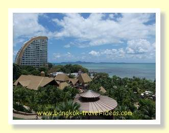 Centara Grand Mirage Beach Resort view, looking towards Koh Larn