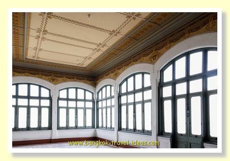 Pressed steel ceilings inside Phaya Thai palace