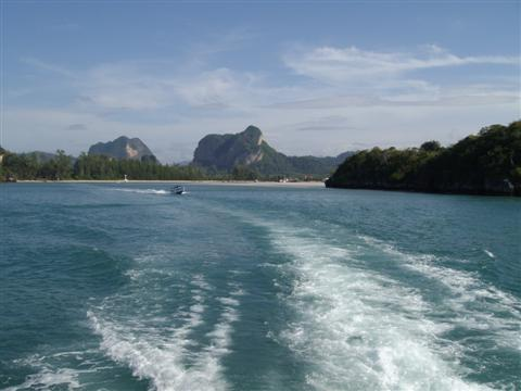 On our way to Koh Phi Phi from Ao Nang