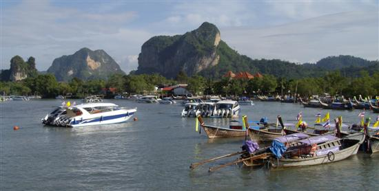 View from the rear of the Ao Nang Princess, the main ferry to phi phi