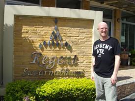 Regent Suvarnabhumi Hotel entrance. Stay here on a Bangkok layover