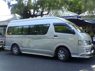 Van to Pattaya beach